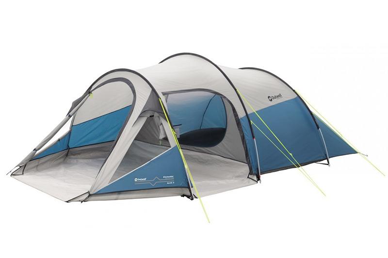 0d0b2d0347a Четириместна тунелна палатка Outwell Earth 4 за къмпинг и туризъм,  двуслойна, с два входа