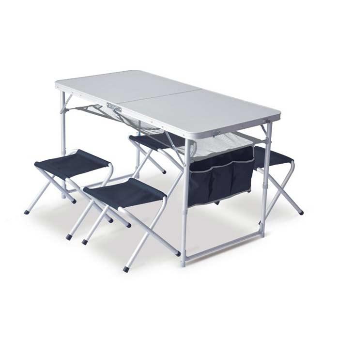 9f389cdbd30 Сгъваема маса за къмпинг и туризъм с 4 стола Pinguin